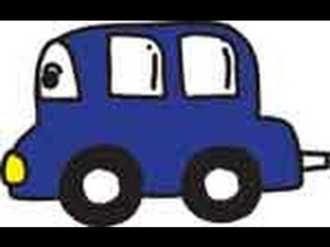 Blue Car Color Song for Kids
