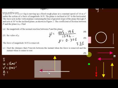 (q8) M1 January 2012 Mechanics Edexcel AS maths - FOR REVISION ONLY