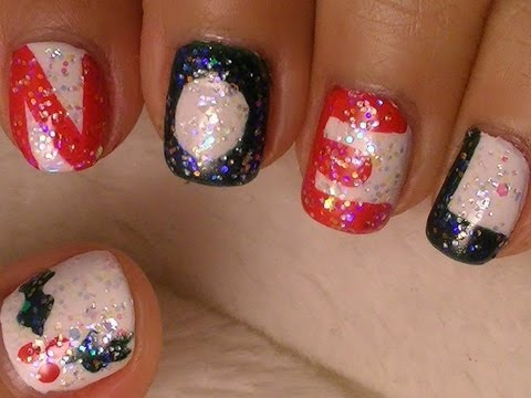 Christmas Nail Art - Simple Noel Design