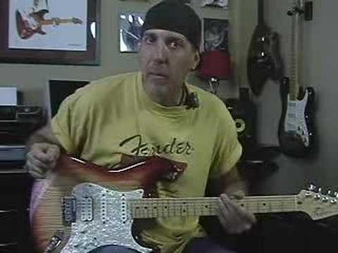 Guitar Lesson Strum with rhythm using a strum pattern part 1