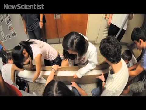 Students break paper folding record