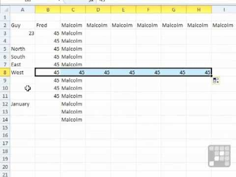 Excel 2010 Tutorial - The Fill Handle