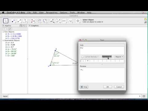 Geogebra Tutorial Creating Calculations