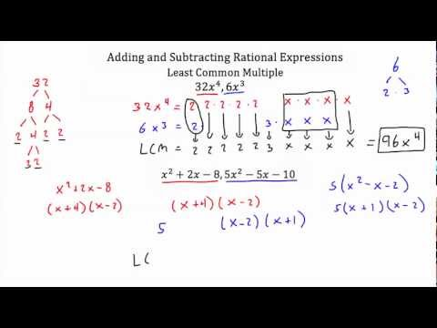 Rational Expressions -Adding and Subtracting  PT 1-Textbook Tactics