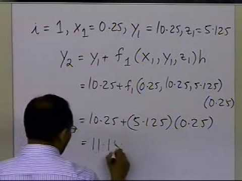 Higher Order and Coupled Ordinary Differential Equations: Euler's Method Example: Part 2 of 2