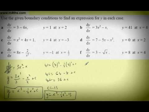 (5) Core 1 Integration (finding the constant of integration part 1)