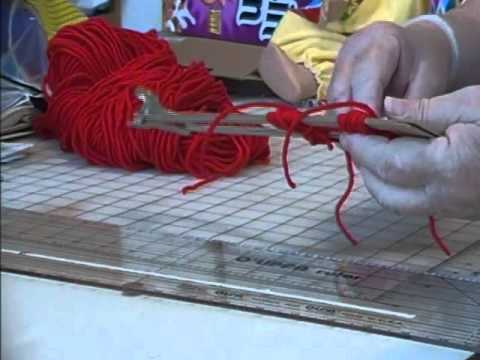 How to Make Yarn Pom Poms on a Cardboard Loom