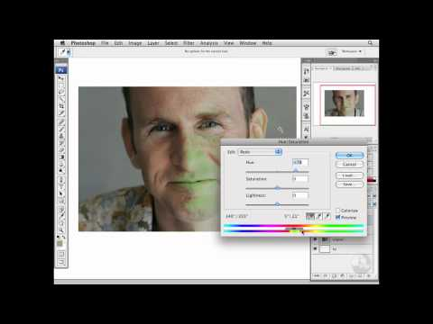 Photoshop: Reducing moderate red skin tones | lynda.com
