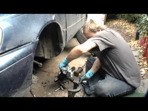 How to replace a front wheel drive axle bearing.
