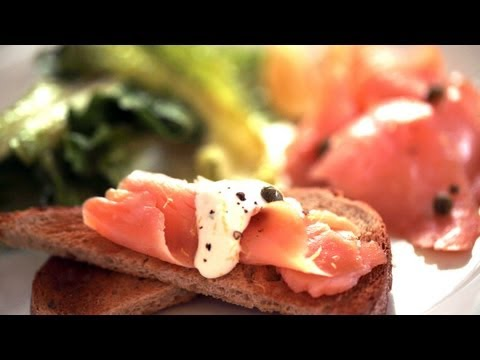 Smoked Salmon On Toast Points Recipe (How To Make It) || Kin Eats