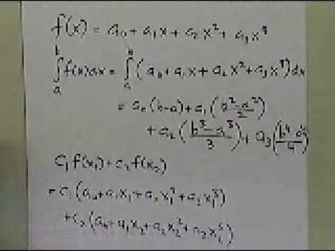 Gauss Quadrature Rule: Two Point Rule