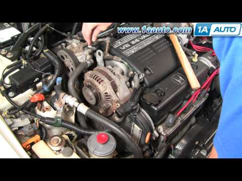 How To Install Replace Change Alternator Honda Accord V6 95-97 1AAuto.com