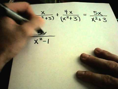 Fractions - Adding and Subtracting - Numerical and Variable Examples