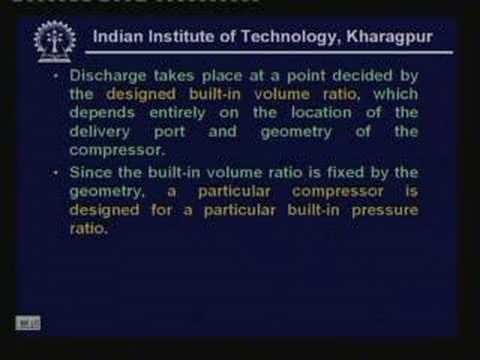 Lecture -23 Compressor (Contd.)