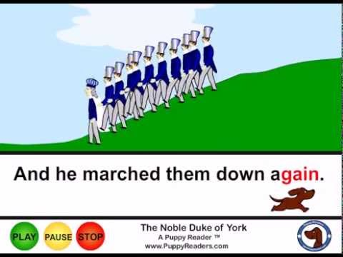 The Noble Duke of York:  Animated Nursery Rhyme For Kids