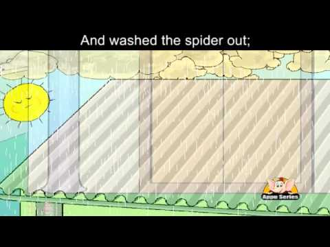 Incy Wincy Spider - with lyrics and sing along option
