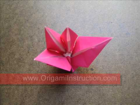 How to Fold Origami Fuchsia Flower - OrigamiInstruction.com