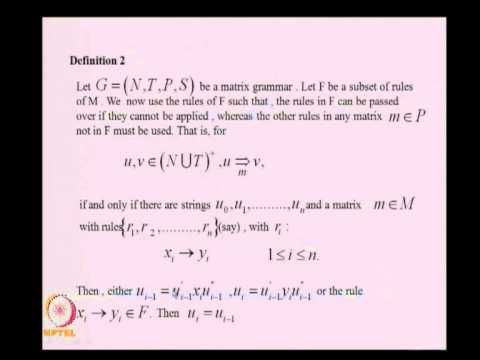Mod-08 Lec-38 REGULATED REWRITING