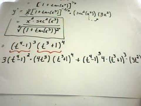 More Complicated Derivative Examples