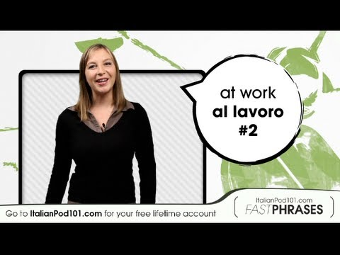 Learn Italian Fast Phrases - When do you work?