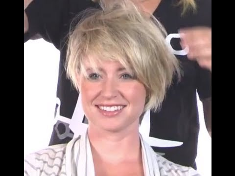 How to Create an A-Symmetrical Short Hair Look - No Cutting Necessary