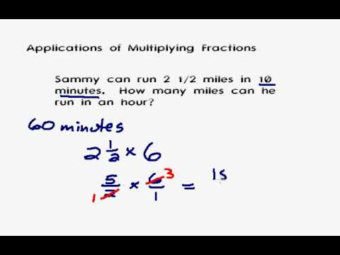Applications of Multiplying Mixed Numbers and Fractions