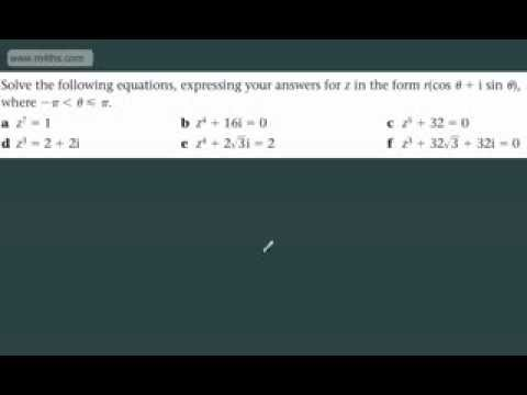 (19) FP2 Complex Numbers (nth roots of a complex number)