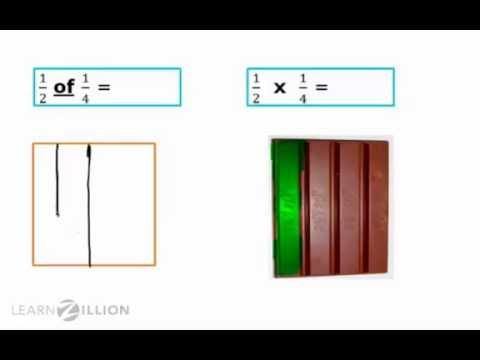 Multiply fractions by fractions using area models - 6.NS.1