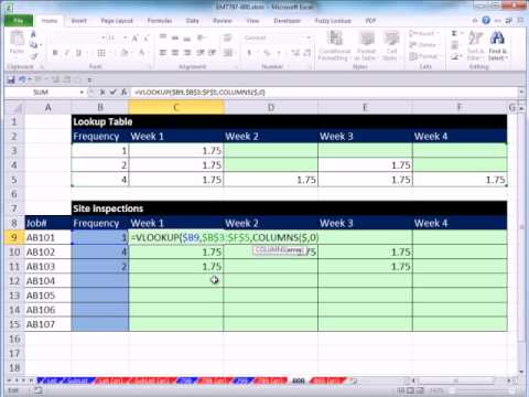 Excel 2010 Magic Trick 800: Alter VLOOKUP Table To Simplify Formula To Return Multiple Items