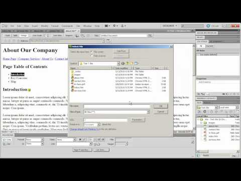 7 - Introduction to Dreamweaver CS5 - Part 7