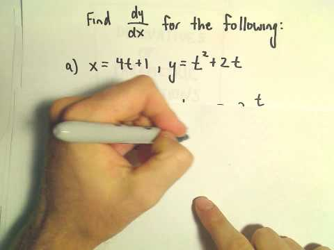 Derivatives of Parametric Equations, Another Example #1