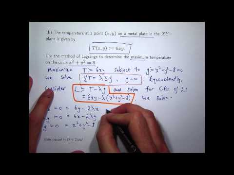 Lagrange multipliers: an example