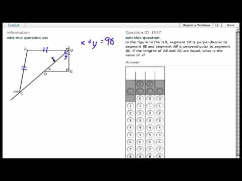 Grockit SAT Math - Student Produced Response: Question 1537