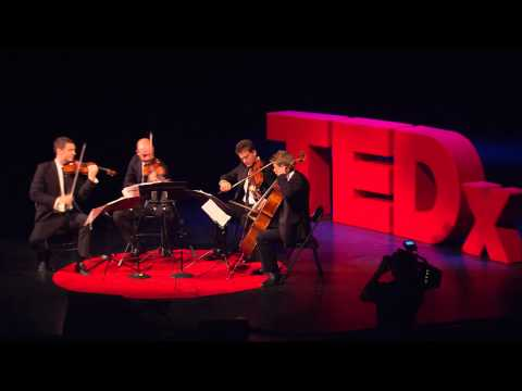 Re-imagining the String Quartet: Calder Quartet Performs Honey Flyers at TEDxAmericasFinestCity