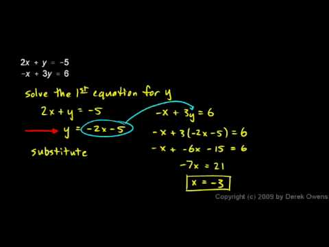 Algebra Review 12.2 - Systems of Equations