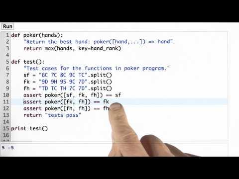Testing Solution - CS212 Unit 1 - Udacity