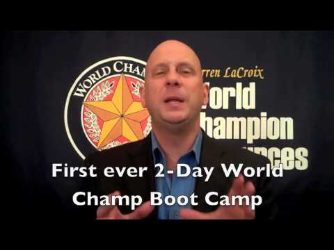 First ever! LIVE Australia World Champion Speaker 2-Day Boot Camp!