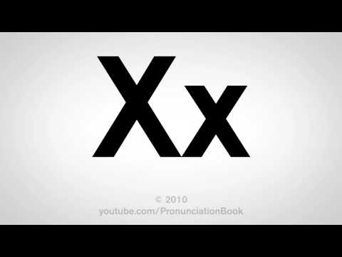 Basic English: How to Pronounce the Letter X