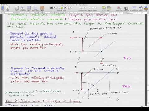 Microeconomics - 87: Tax Division, Elasticity of Demand