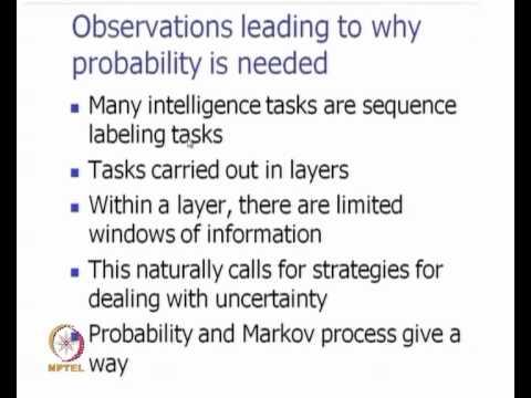 Mod-01 Lec-16 AI and Probability; HMM