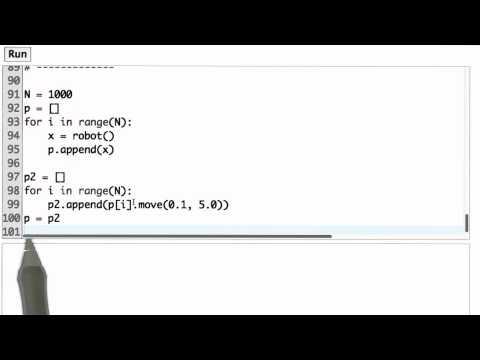 Robot Particles Solution - CS373 Unit 3 - Udacity