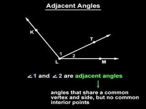 Adjacent Angles - YourTeacher.com - Geometry Help