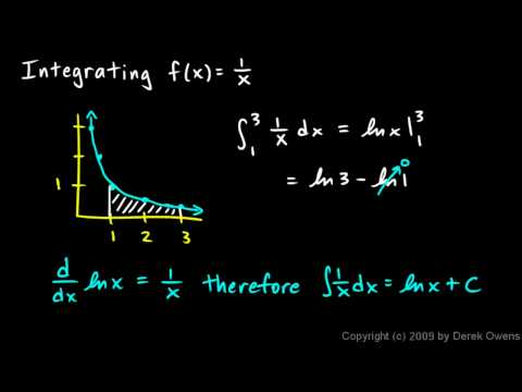 Calculus 6.3e - Integrating 1 over x