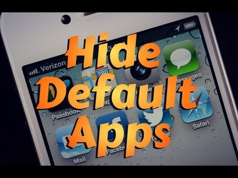 How to: Remove Default Apps on iOS 6 iPhone 5, iPod Touch 5g (No Jailbreak Needed)