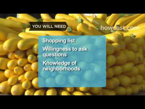 How To Shop At a Farmers Market