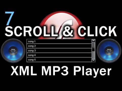 7. Wrap It Up - Flash Scroll List MP3 Player AS3 XML Playlist Tutorial