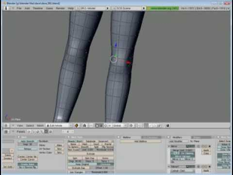 Blender Tutorial Series - Part 009 - The Legs