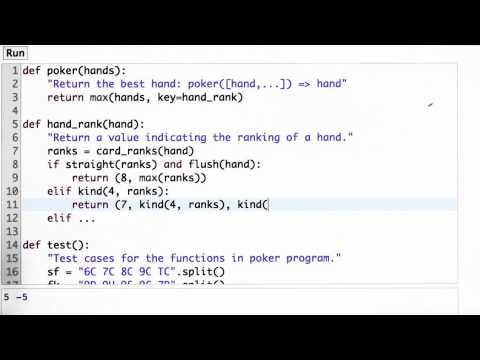 Back To Hand Rank - CS212 Unit 1 - Udacity