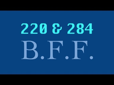 220 and 284 (Amicable Numbers) - Numberphile