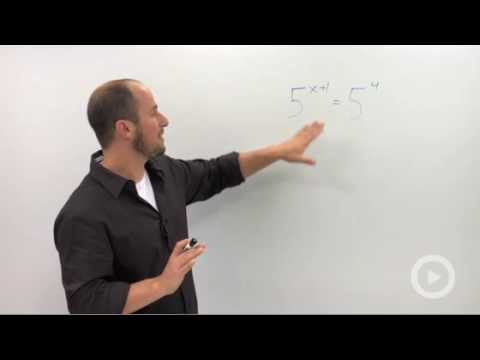 Algebra 2 - Solving Exponential Equations with the 'Same' Base
